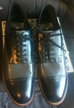 Stacy-Adams Black/Grey Two tone Mens Cap Dress Shoes Size 13