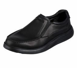 Skechers Black Shoes Men Memory Foam Slip On Comfort Casual