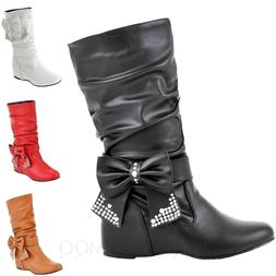 Bow wedge Boots Womens mens internal kids Fashion shoes Chel