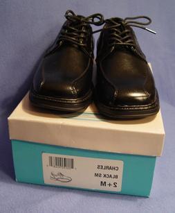 Scott David Boys Black Lace Up Dress Shoes, Charles,  Size 2