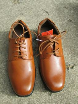 Deer Stags Boys Brown Rounded Toe Oxford Dress Shoe Size 4M