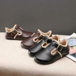 Boys girls Leather Shoes for kids Genuine Leather Dress Wedd
