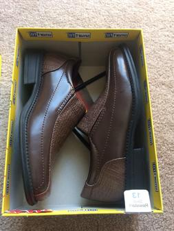 Boys Smart Fit Brown Croco Dress Shoes Size 13 ~ NEW!