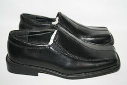 BOYS YOUTH STACY ADAMS BLACK SLIP ON DRESS SHOES - SEE LISTI