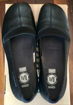 Brand New Merrell Ortholite Air Cushion Clogs Black Leather