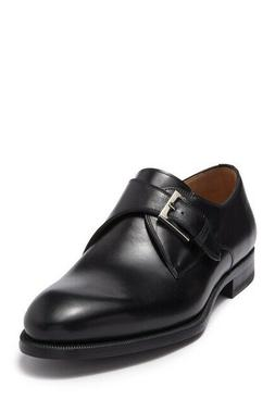 Magnanni Brodie Black Leather Monk Strap Dress Shoe Size 9.5