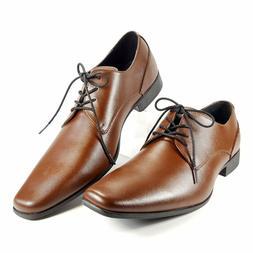 CALVIN KLEIN Brodie Men's Dress Shoes Oxford Brown size 13 N
