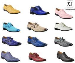 LibertyZeno Men's Oxford Manmade Wing Tip Dress Shoes in Cro