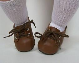 "BROWN Boy Dress or casual Doll Shoes For Some 22"" Lee Middle"