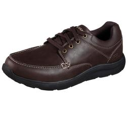 Brown Leather Skechers shoes Men Memory Foam Sport 65325 Dre