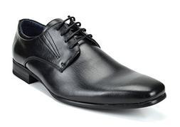 Bruno Marc Men's Gordon-03 Black Leather Lined Snipe Toe Dre