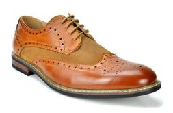 Bruno Marc Mens Brogues Leather Lined Lace-up Wing-Tip Forma