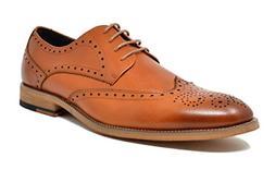 Bruno Marc Men's Waltz-3 Brown Genuine Leather Dress Oxfords