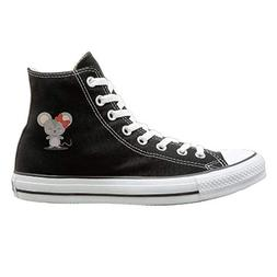 Frideing Butterfly Mouse Canvas Shoes High Top Lace ups Casu