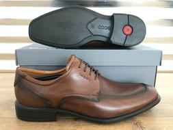 ECCO Cairo Apron Toe Leather Dress Shoes Walnut Brown Black