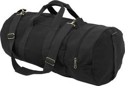 Rothco Canvas Double Ender Sports Bag, Black, 30""