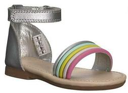 Carter's Gene Kids Sandals Silver Gladiator Summer Fashion D
