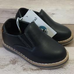 Cat & Jack Toddler Boys' Black Loafers Dress Shoes Size 5, 6