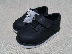 Cat & Jack Toddler Boys Pierre Strap Black Dress Shoes size