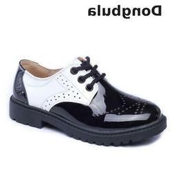 Children Leather Wedding Dress Shoes For Girls Boys