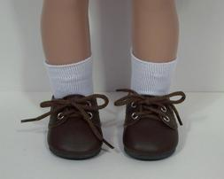 "CHOCOLATE BROWN Dress Up Casual Doll Shoes For 18"" American"