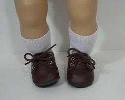 "CHOCOLATE DK BROWN Dress Up or Casual Doll Shoes For 15"" Bit"