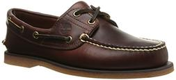 Timberland Men's Classic 2-Eye Boat Shoe, Rootbeer/Brown, 9