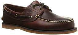 Timberland Men's Classic 2-Eye Boat Shoe, Rootbeer/Brown, 9