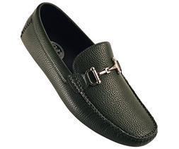 Amali Men's Classic Driving Shoe in Pebble Grain Faux Leathe