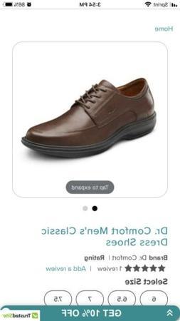 Dr Comfort Classic Men's Therapeutic Diabetic Dress Shoe Che