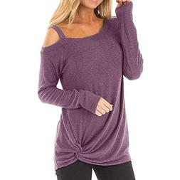 Clearance Forthery Womens Casual Cold Shoulder Long Sleeve K