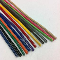 Colored Waxed Cotton Dress Shoelaces Round Oxford ShoeLace