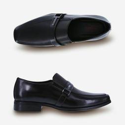 Dexter Comfort  Men's Zeke Black Perforated Slip-On Dress Sh
