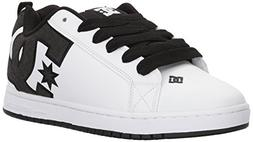 DC Men's Court Graffik SE Skate Shoe, Black/White/White, 12
