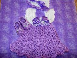 Handmade Crochet Original Dress Shoes & Hat 0-3 MO by Rocky