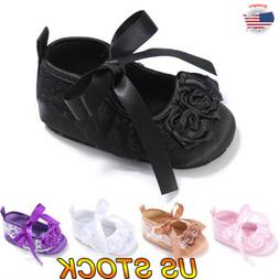 Cute Baby Infant Toddler Girl Casual Ballet Floral Bow Princ