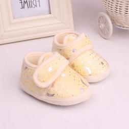 Cute Infant Newborn Toddler Soft Bottom Shoes 3 Colors Girls