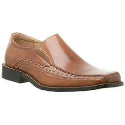 Stacy Adams Danton Bike Toe Slip On Loafers-Cognac 8.5 M, Co