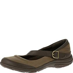Merrell Women's Dassie MJ Slip-On Shoe, Charcoal Brown, 6 M