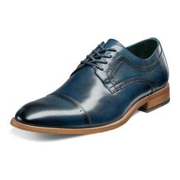 Stacy Adams Men's Dickinson Cap Toe Lace-up Oxford, Indigo 1