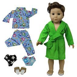 ZITA ELEMENT Lot 5 Doll Pajamas Nightdress Clothes & Shoes S