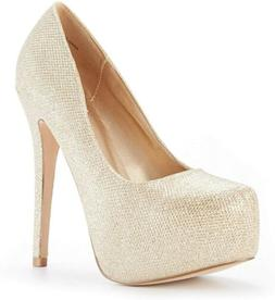 Dream Pairs Women'S Swan-30 High Heel Plaform Dress Pump Sho