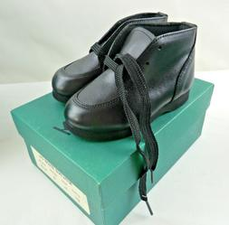 Dress Black Boots Shoes Baby Boy Toddler Child Size 5 1/2 EE