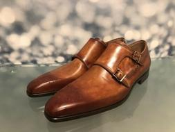 MAGNANNI DRESS SHOES DOUBLE MONK STRAP BEAUTIFUL PATINA TANN