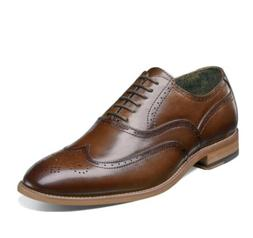 Stacy Adams Dress Shoes, Genuine Leather Oxford Wingtip Shoe