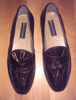 Stacy Adams Dress Shoes Genuine Snake Skin Leather Tassel Lo