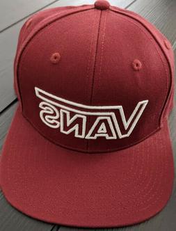 VANS DROP V III SNAPBACK HAT ADJUSTABLE CAP MAROON/WHITE