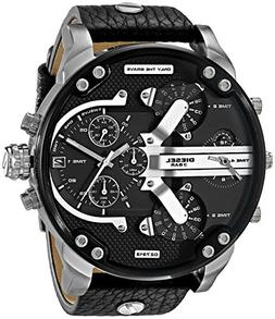 Diesel Men's DZ7313 Mr Daddy 2.0 Stainless Steel Black Leath