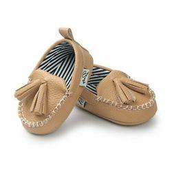 E-FAK Newborn Baby Boys Girls Moccasin Shoes Loafers Dress C