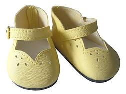 """Easter Yellow Scallop Shoes for 18"""" American Girl Dolls by D"""